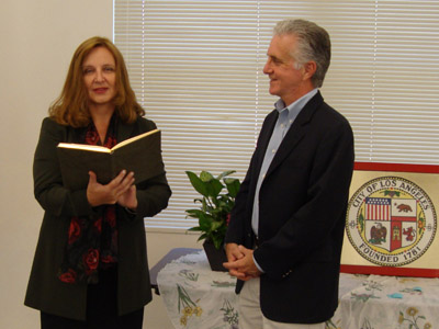 Maja Trochimczyk with Paul Krekorian, May 2010