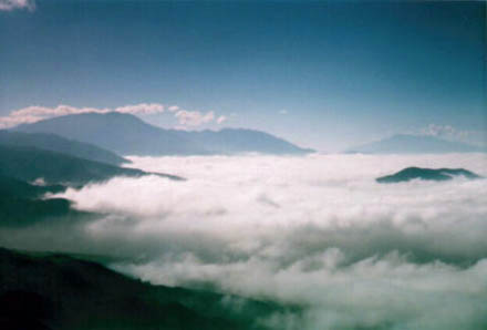 Above the clouds in California, 1997.
